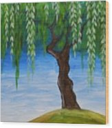 Weeping Willows Wood Print