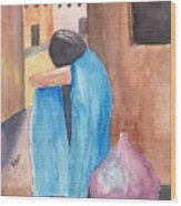 Weeping Woman  Wood Print