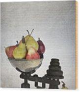 Weighing Pears Wood Print