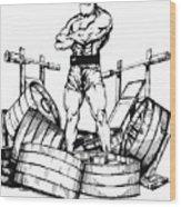 Weight Lifter Wood Print