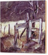Weighted Gate -feather River Park Wood Print