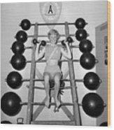Weightlifting Woman Wood Print