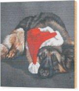 Weihnachtshund Wood Print
