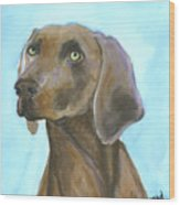 Weimarainer Dog Art Wood Print
