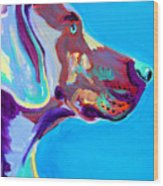 Weimaraner - Blue Wood Print by Alicia VanNoy Call