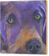 Weimaraner Dog Art Wood Print
