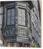 Wein Window Wood Print