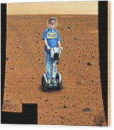Welcom To Mars Wood Print by Larry Mulvehill