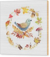 Welcome Back Autumn Wood Print
