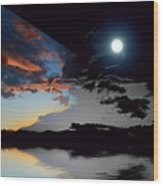 Welcome Beach Day And Night 2 Wood Print