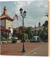 Welcome Center At Frankenmuth Wood Print
