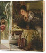 Welcome Footsteps Wood Print by Sir Lawrence Alma-Tadema
