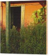 Welcome Green Wood Print
