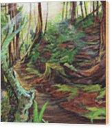 Welcome Paths Wood Print