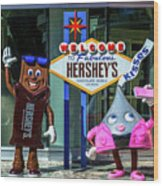 Welcome To Fabulous Hersheys Sign Wood Print
