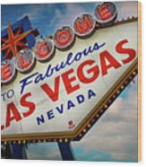 Welcome To Fabulous Las Vegas Wood Print