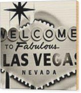 Welcome To Fabulous Las Vegas Nevada Wood Print by Leslie Leda