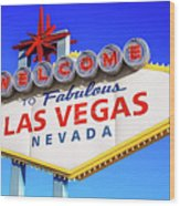 Welcome To Las Vegas Sign Only Boulder Highway Day Wood Print