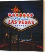 Welcome To Las Vegas Wood Print by Steve Gadomski