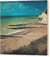 Welcome To Saltdean An Imaginary Postcard Wood Print