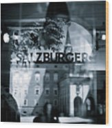 Welcome To Salzburg Wood Print by Dave Bowman