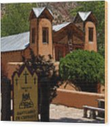 Welcome To Santuario De Chimayo Wood Print