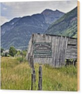 Welcome To Telluride Colorado Wood Print