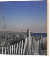Welcome To The Beach Wood Print