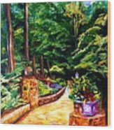 Welcome To The Garden Wood Print