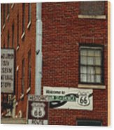 Welcome To The Main Street Of America Wood Print