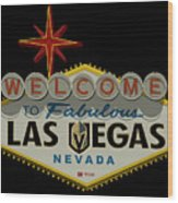 Welcome To Vegas Knights Sign Digital Drawing Wood Print