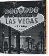 Welcome To Vegas Xi Wood Print