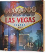 Welcome To Vegas Xii Wood Print