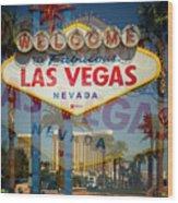Welcome To Vegas Xiii Wood Print