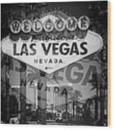 Welcome To Vegas Xiv Wood Print