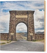 Welcome To Yellowstone Wood Print