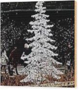 Welcome Winter Wood Print