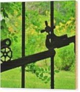 Welded Garden Gate Wood Print