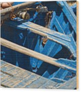 Well Used Fishing Boat Wood Print