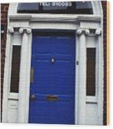 Well Woman Door In Dublin Wood Print