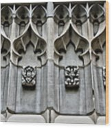 Wellesley College Tower Court Detail Wood Print