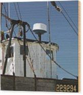 Wellfleet Fishing Boat Cape Cod Massachusetts Wood Print