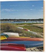 Wellfleet Harbor Cape Cod Wood Print