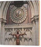 Wells Cathedral Geocentric Clock Wood Print