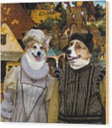 Welsh Corgi Pembroke Art Canvas Print - The Dutch Proverbs Wood Print