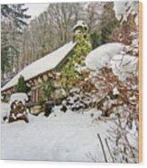 Welsh Cottage Wood Print