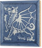 Welsh Dragon Panel Wood Print