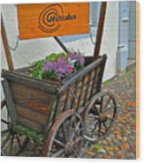 Weltladen Cart Wood Print