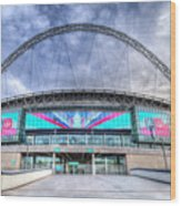 Wembley Stadium Wembley Way Wood Print