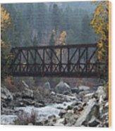 Wenatchee Bridge Digital Painting Wood Print